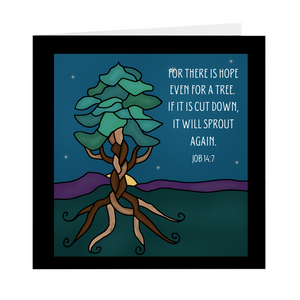 It Will Sprout Again- Square Greeting Card