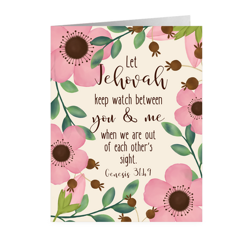 Let Jehovah Keep Watch- Note Cards