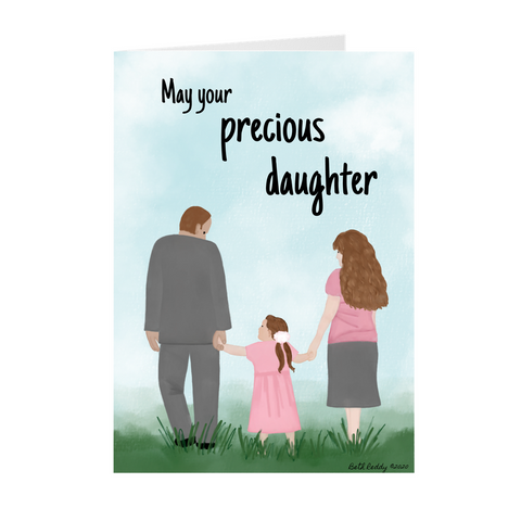 Precious Daughter Greeting Card- Baby Girl