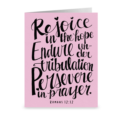 Rejoice In the Hope Hand Lettered Note Cards