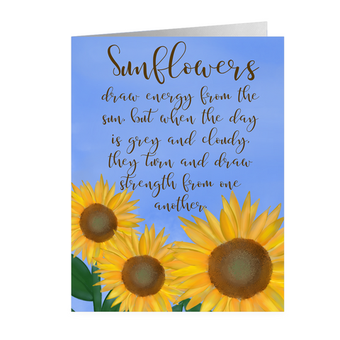 My Sunflower- Friendship Card In Two Sizes
