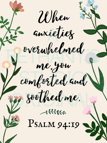 When Anxieties Overwhelmed Me- Digital Download