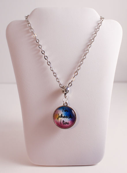 Life of a Pioneer Double-Sided Necklace, Rainbow Watercolor