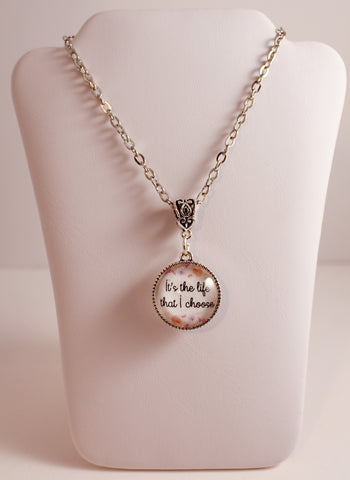 Life of a Pioneer Double-Sided Necklace, Floral Border