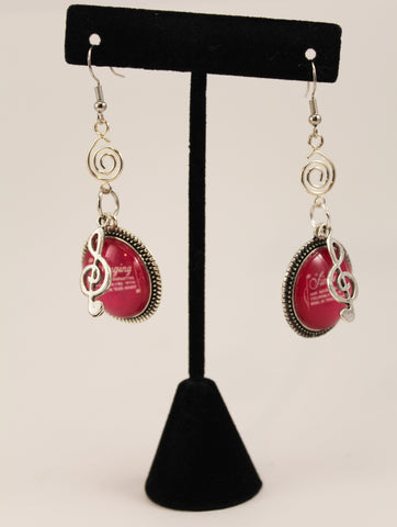 Retro Songbook Earrings