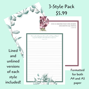 PRINTABLE Letter Writing Stationery Pack #2