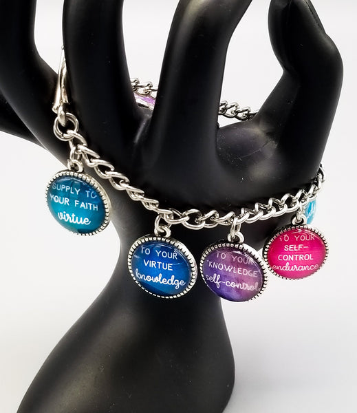 """Supply To Your Faith"" Charm Bracelet"