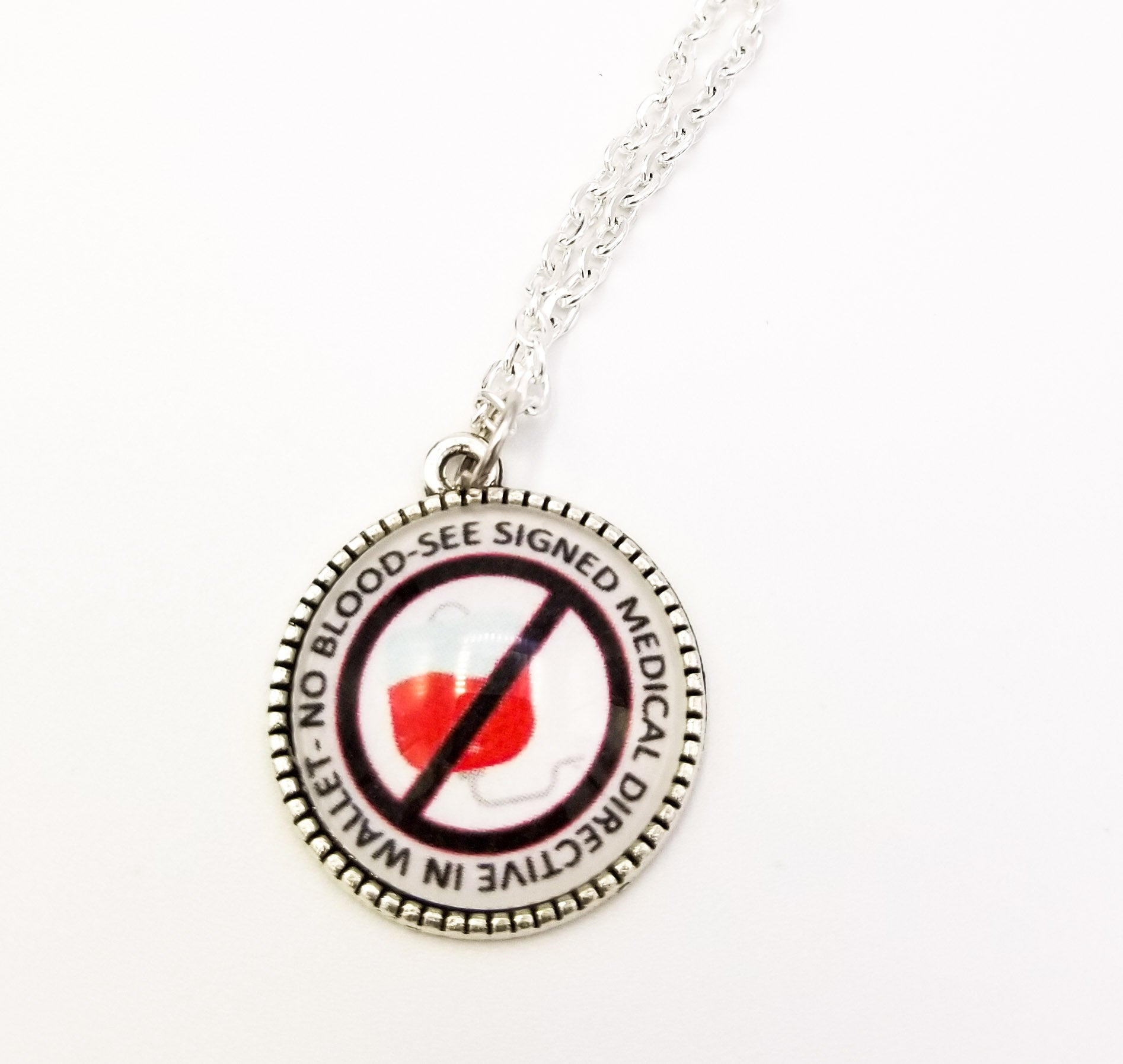 No Blood Charm Necklace