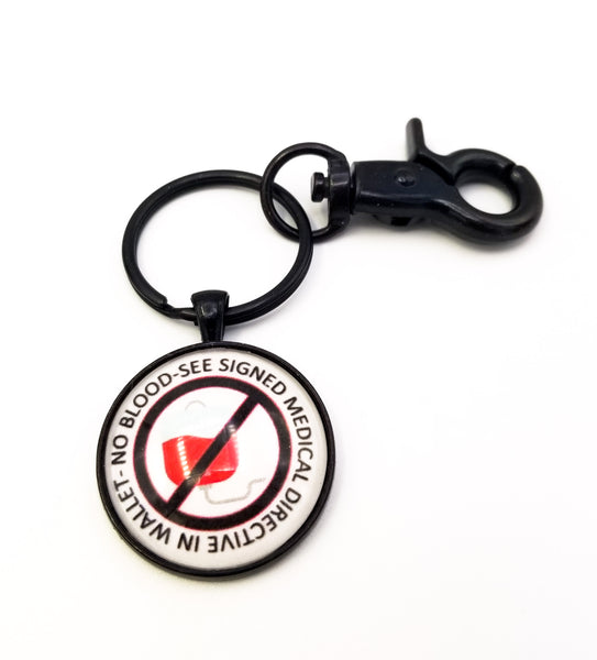 No Blood Keyring with Swivel Clip