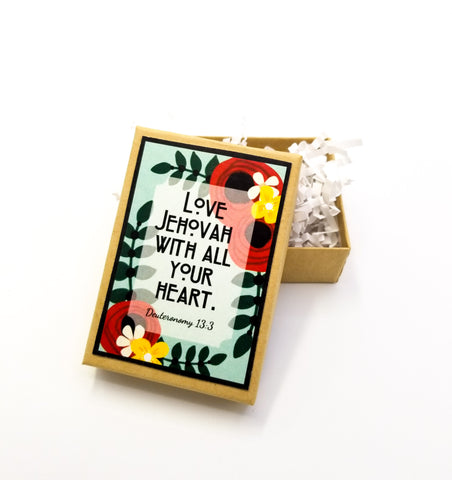 Love Jehovah With All Your Heart Jewelry Gift Box
