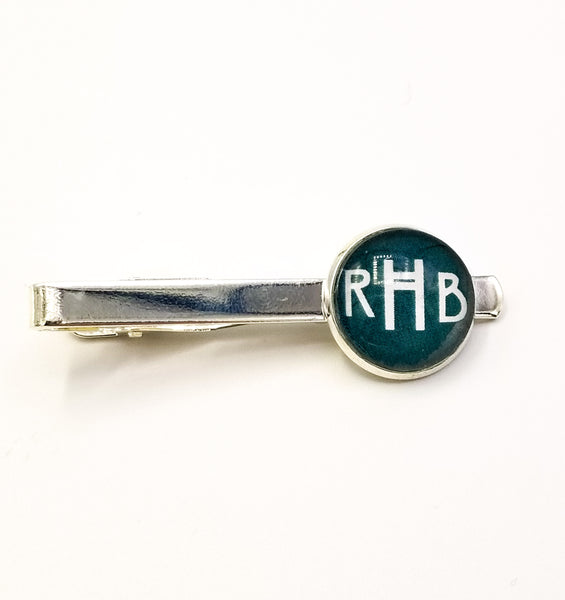 Monogram Sets for Brothers- Choose Cuff Links, Tie Tack, Tie Clip