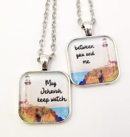 May Jehovah Keep Watch- Best Friend Necklace Set