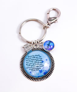 Freesia Favorite Scripture Key Ring With Swivel Clip, Personalized For You