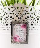"""No Other God But You"" Victorian Framed Art Pendant with Chain"
