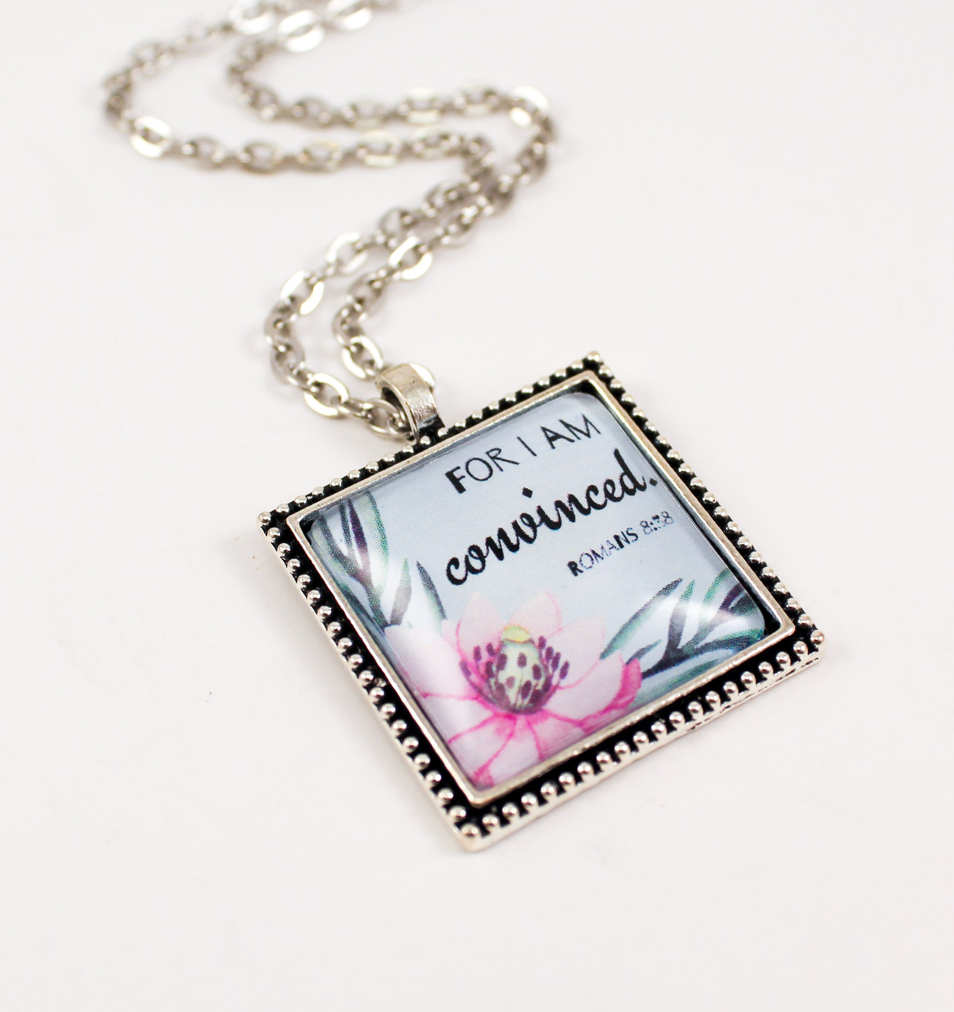 """For I Am Convinced"" Magnolia Necklace"