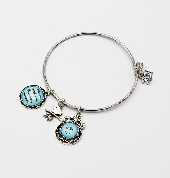 Many Sparrows Charm Bangle Bracelet