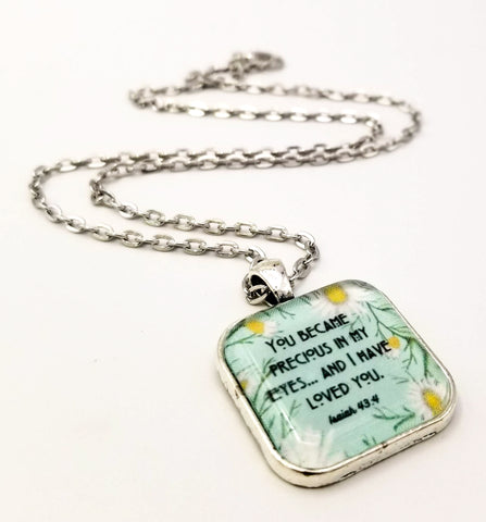 You Became Precious In My Eyes- Daisy Pendant Necklace