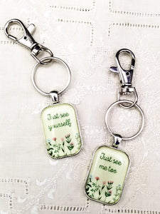 Just See Yourself/Just See Me Too Matching Keyrings with Swivel Clips