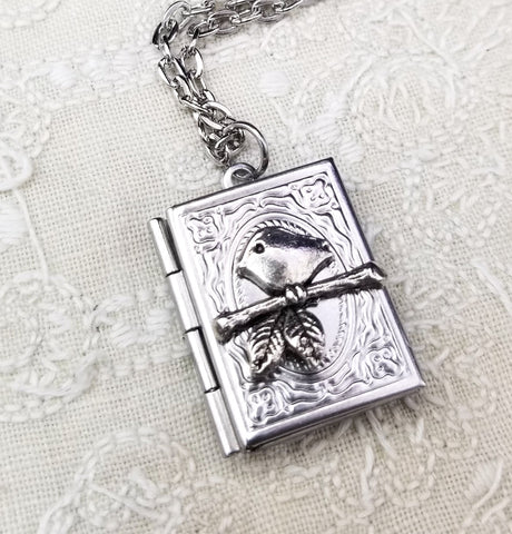 Sparrow Book Locket With Custom Options