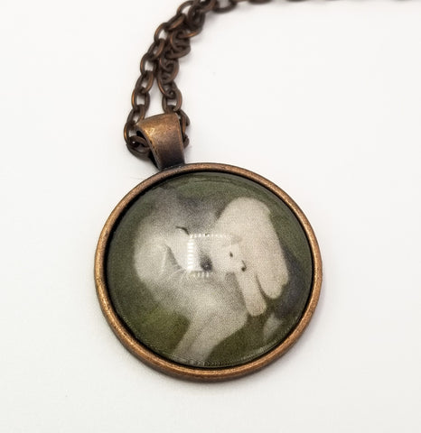 Wolf and Lamb Art Pendant