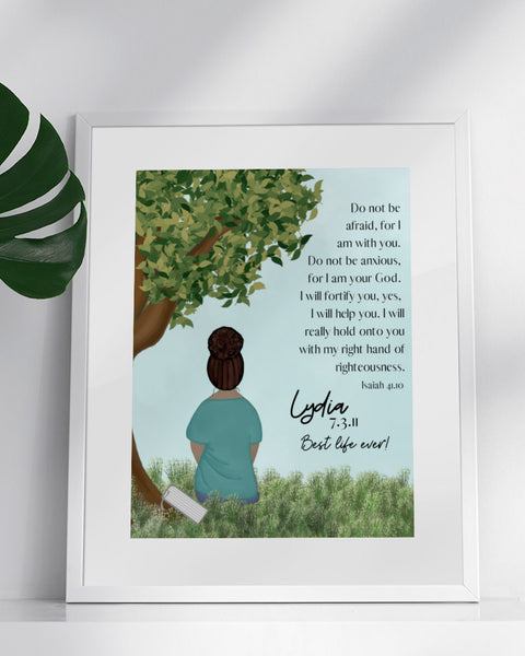 Fine Art Print Custom Baptism Keepsake