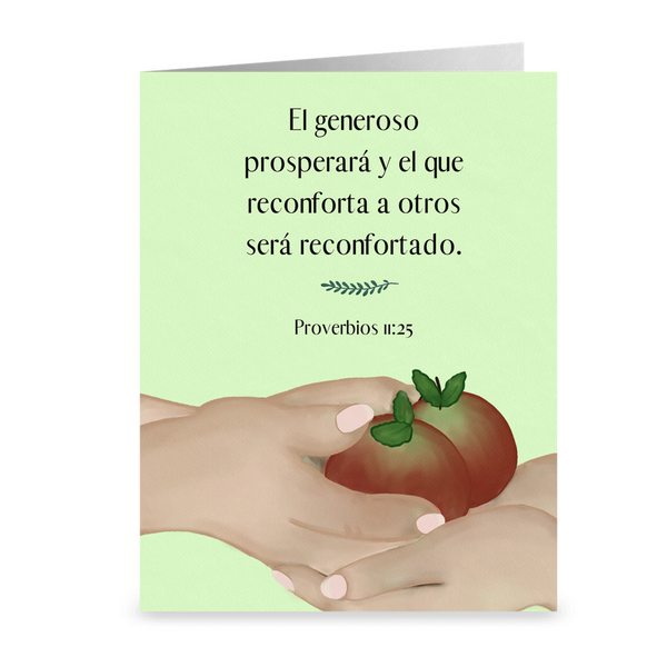 The Generous Person Thank-You cards, SPANISH
