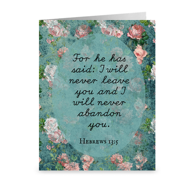 Vintage Shabby Chic Scripture Notecards-English