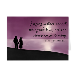 Surging Waters Cannot Extinguish Love- Wedding or Engagement Card
