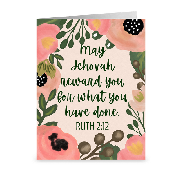 May Jehovah Reward You Thank You Card