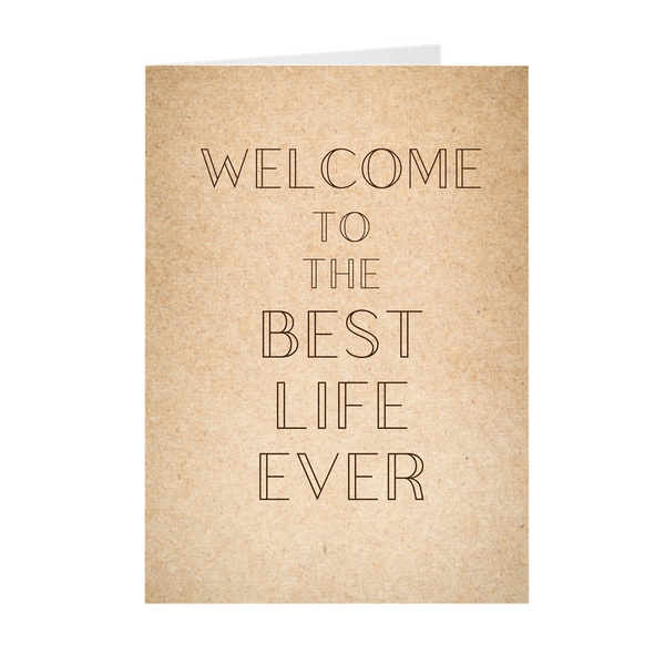 Welcome To the Best Life Ever Baptism Card- Simple & Elegant