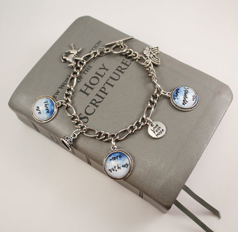 There Are More With Us Than Against Us Toggle Charm Bracelet