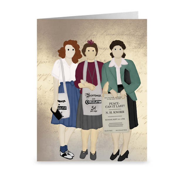 Street Witnessing Trio Notecards- The Spiritual Heritage Collection