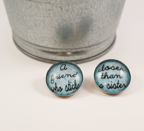A Friend Who Sticks Closer Than a Sister Brooch Set- Turquoise Lace