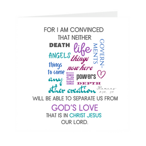 For I Am Convinced Square Note Cards