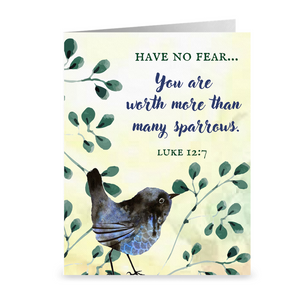 You Are Worth More Than Many Sparrows Notecards