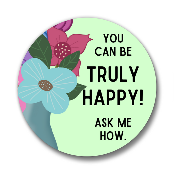Conversation Starter Pins- Floral, Set of 6