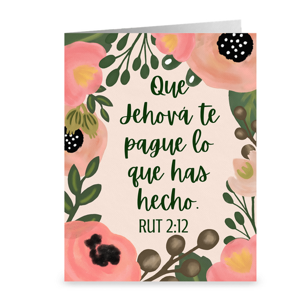 Que Jehová te Pague Lo Que Has Hecho- Notecards