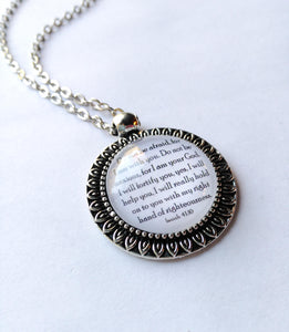 Isaiah 41:10 Petal Edge Pendant with Chain, Do Not Be Afraid For I Am With You, jw.org, NWT, JW gifts, Encouragement