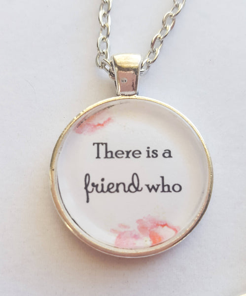A Friend Who Sticks Closer Than a Sister Matching Necklace Set, Proverbs 18:24 inspired, Best Friends, JW.org
