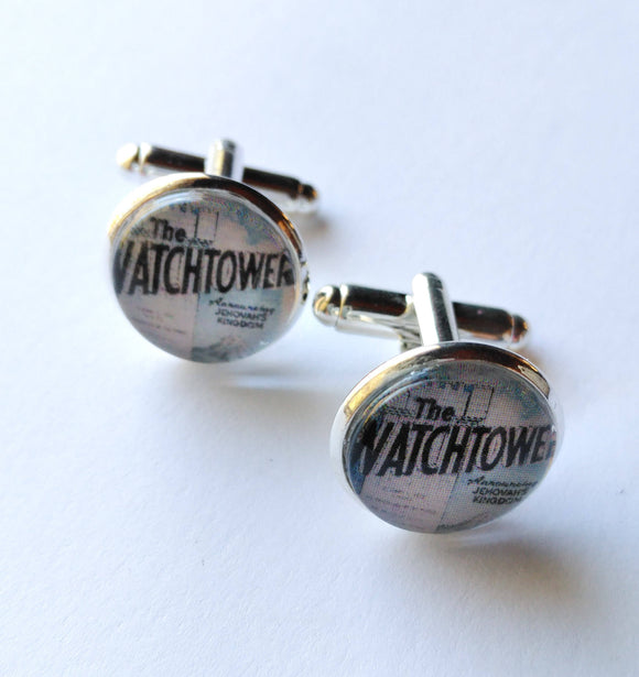 Vintage Watchtower Cover Cufflinks, 1970 Edition, Spiritual Heritage, JW.org, Jehovah's Witnesses JW Gifts for Brothers, Elders