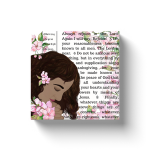 "Philippians 4 ""Bible Page"" Canvas Wall Art"