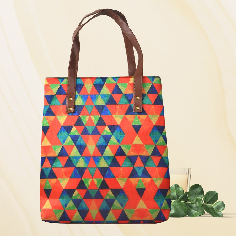 Multi Triangles tote
