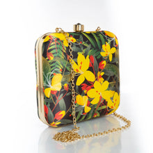 Load image into Gallery viewer, Yellow floral clutch