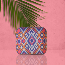 Load image into Gallery viewer, Multicolor Ikat clutch bag