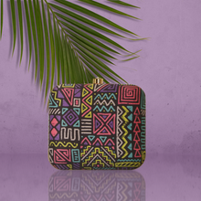 Load image into Gallery viewer, Neon geometric clutch