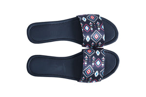 Black ikat sliders