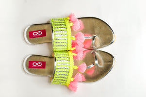 Neon Green Tassels - Light
