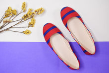 Load image into Gallery viewer, Red striped ballerinas