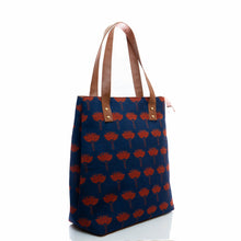Load image into Gallery viewer, Lotus print tote bag