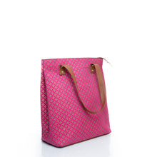 Load image into Gallery viewer, Pink khaddi tote bag